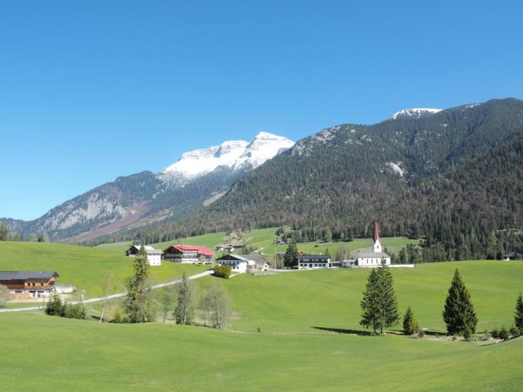 Austrian Alps Small Town Mountains