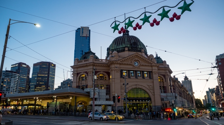 Flinder's Street Station Christmas