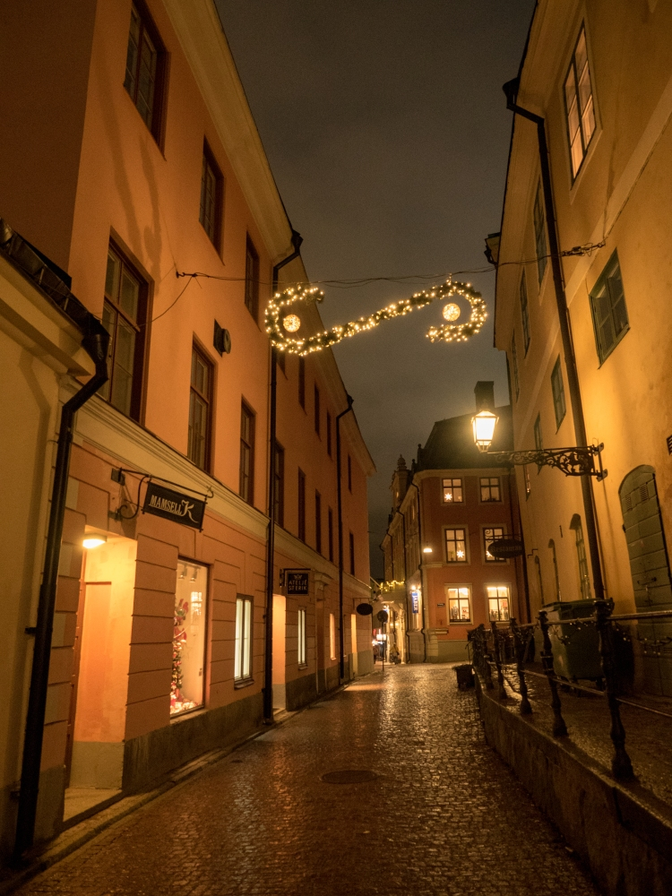 Streets of Uppsala Sweden Christmas