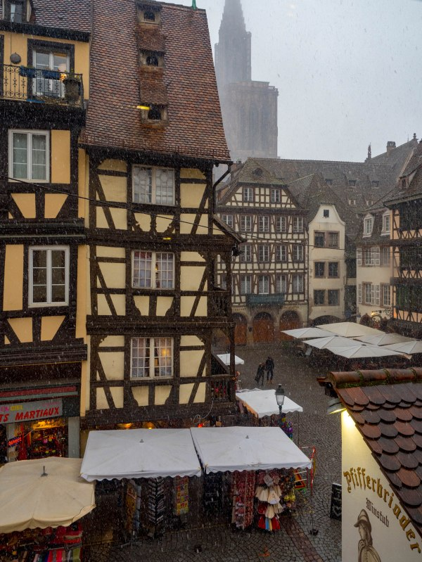 Streets of Strasbourg Snow