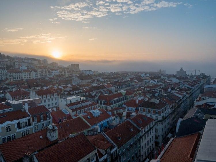 Santa Justa Viewpoint Lisbon