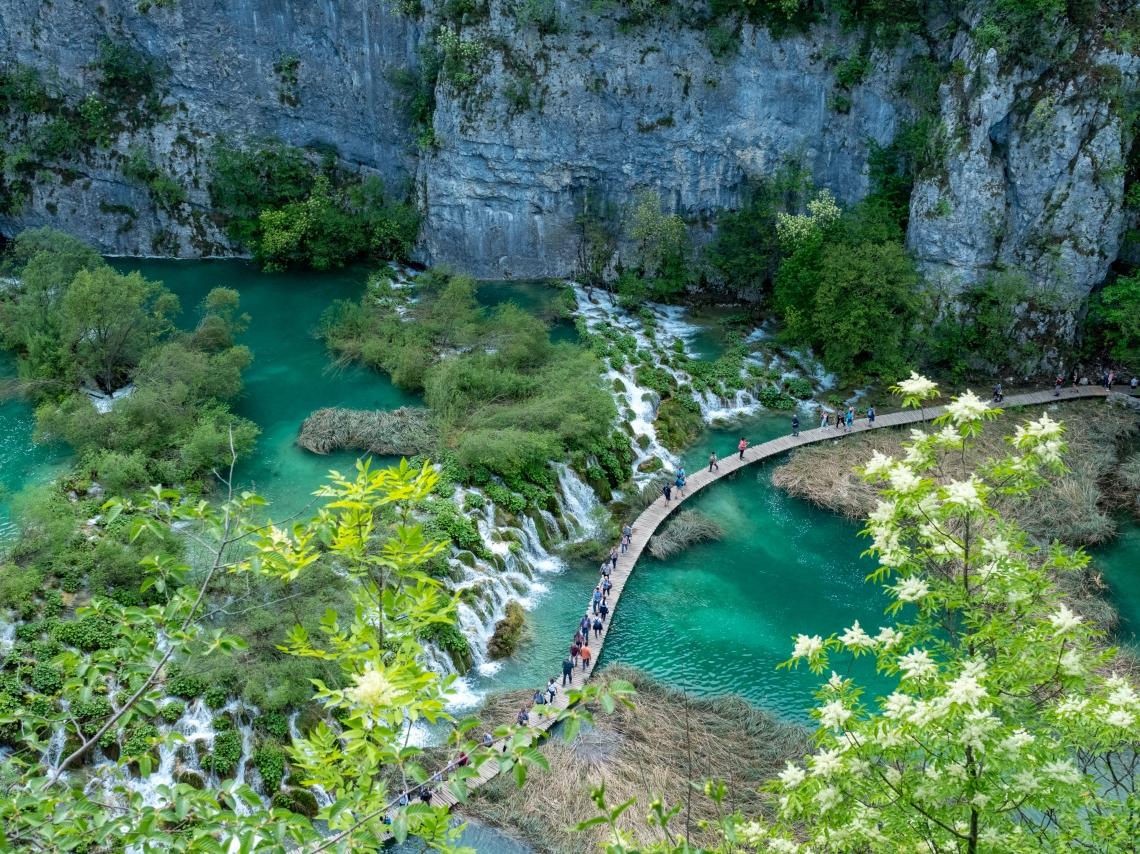Lower Lakes Plitivice Falls Spring