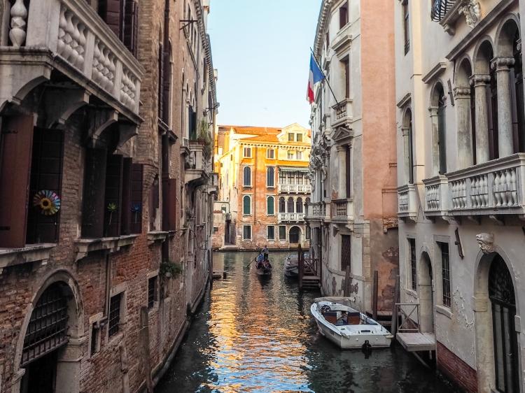 Gondola quiet canal Venice